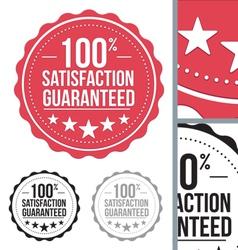 Red satisfaction guaranteed seal stamp design vector