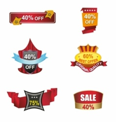 Sale banners labels discount tag coupon vector