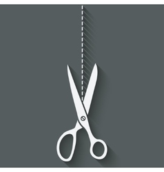Scissors cut symbol vector