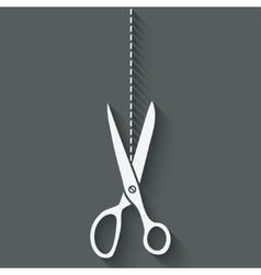 Scissors cut symbol vector