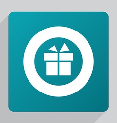 Flat gift icon vector
