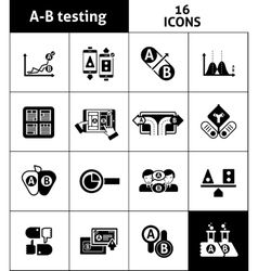 A-b testing icons black vector