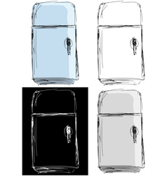 Vintage fridge vector