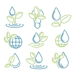 Ecology symbol set eco-icons vector