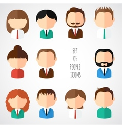Set of colorful office people icons businessman vector
