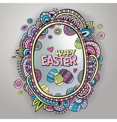 Ornamental easter egg frame vector