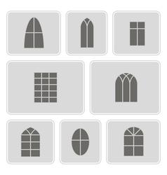 Icon set with window vector