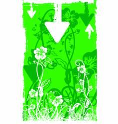 White foliage green grunge back vector
