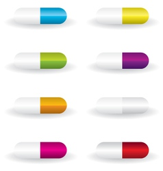 Pills different color vector