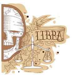 Engraving libra vector