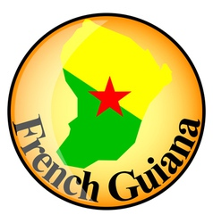 Button french guiana vector