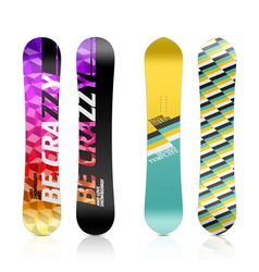 Snowboard design vector