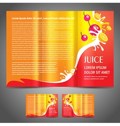 Brochure fruit colored vector