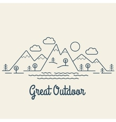 Great outdoor vector