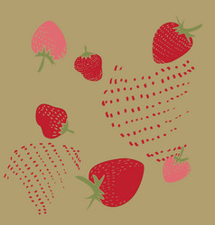 Pattern strawberry vector