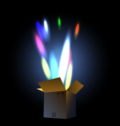 Fireworks in the giftbox vector
