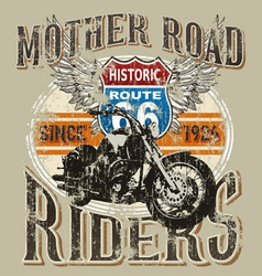 Route 66 rider vector