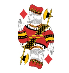 King of diamonds vector