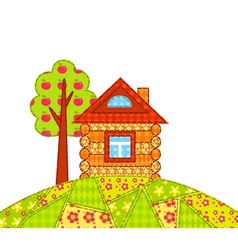 House on the hill isolated vector