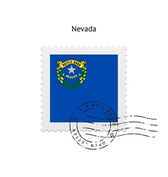 State of nevada flag postage stamp vector