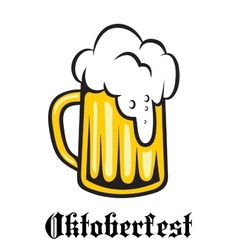 Oktoberfest emblem poster or label vector