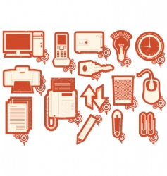 Stationary icons vector