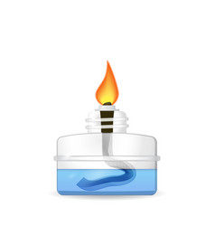Chemical alcohol burner vector