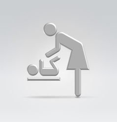 Maternity nursing icon vector
