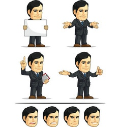Businessman or company executive customizable 8 vector