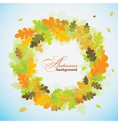 Oak autumn background vector