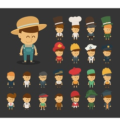 Group of professions cartoon characters vector