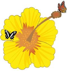 Sunny flower vector