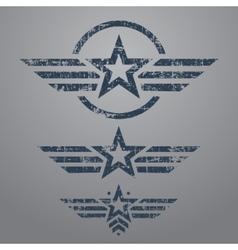 Military style emblem set vector