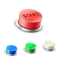 3d mega round buttons vector