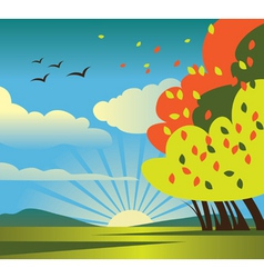 Autumn scenery vector