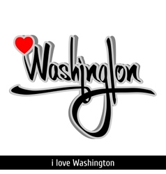 Washington greetings hand lettering calligraphy vector