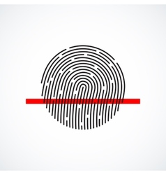 Fingerprint identification system black symbol vector