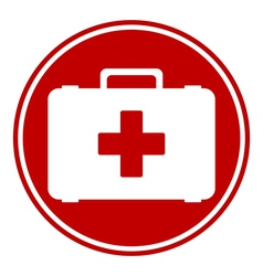 First aid button vector