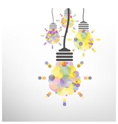 Creative light bulb idea vector