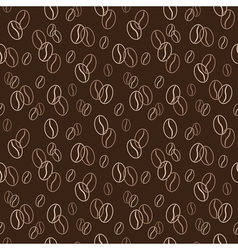 Seamless pattern with coffee beans vector