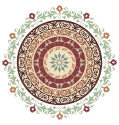 Circle ornament version vector