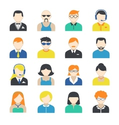 Avatar character icons set vector