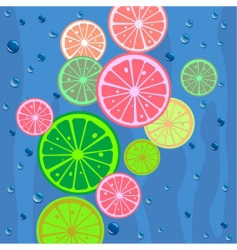 Lemons slices background vector