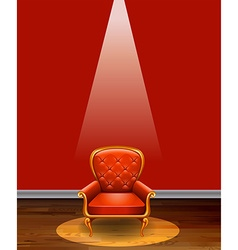 Red chair vector