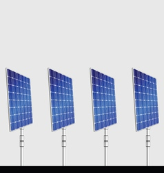 Solar panel isolated on gray background vector
