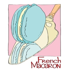French macaron vector