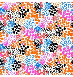 Hand painted pattern with splatters vector