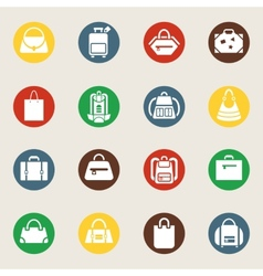 Bags and luggage icons vector