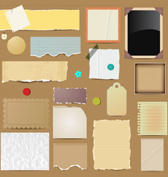 Scrapbooking paper elements vector