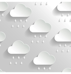 Abstract background with paper rainy clouds vector